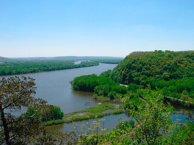Mississippi River from top of Effigy Mounds National Park